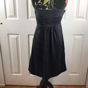 Banana Republic black strapless Party Dress Sz 2P